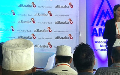 Managing Director, Sonya Kuhnel, speaks at Al Baraka Bank SA & AMAL event in Durban